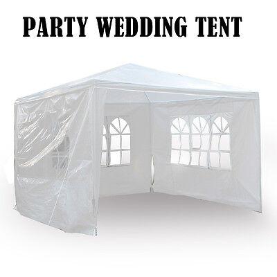 New 3 x 3m Waterproof Outdoor PE Garden Gazebo Marquee Canopy Party Tent