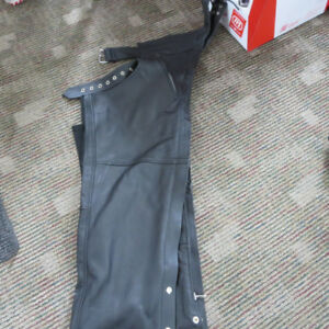 Men's Altimate Leather Motorcycle Chaps XL $50 --- RE-GEAR