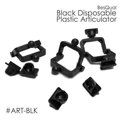 Dental Lab Disposable Articulator Plastic - 100 Sets - Black Or White