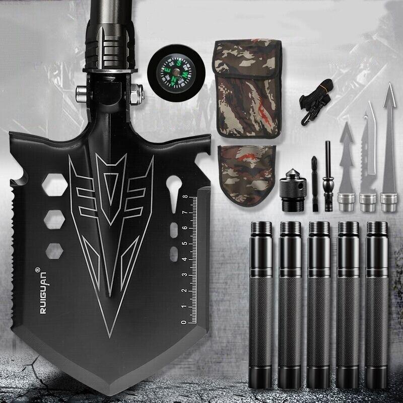 Folding Military Shovel Set Survival Camping Spade Multi-tools Tactical Outdoor