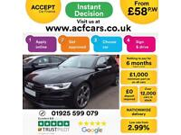 2014 BLACK AUDI A6 AVANT 2.0 TDI ULTRA 190 BLACK EDITION CAR FINANCE FR £58 PW