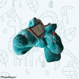 Dino mittens