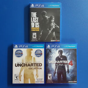 PS4 PLAYSTATION LAST OF US + UNCHARTED 1 2 3 4 BUNDLE