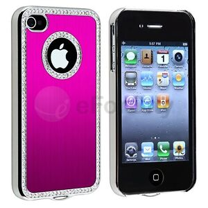 Pink-Luxury-Bling-Diamond-Aluminium-Case-Cover-For-iPhone-4-4S-4G-Verizon-AT-T