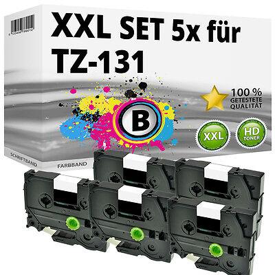 5x Farbband kompatibel Brother P-Touch 1000 1010 1080 1230 PC1250 1280 H110 ttp gebraucht kaufen  Uelzen