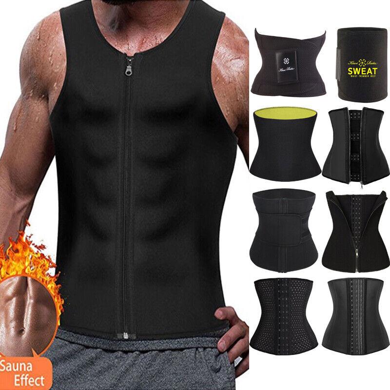 Faja Men Weight Loss Vest Power Waist Trainer Hot Sweat Ther