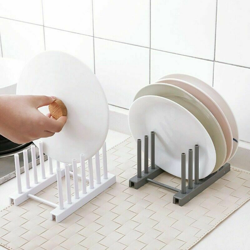 Kitchen Dish Bowl Plate Drying Utensils Rack Organizer Drain