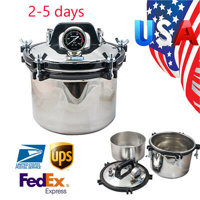 Usa Autoclave Sterilizer Medical Dental Tattoo Autoclaves Steam Sterilization 8l