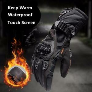 Winter warm motorcycle gloves 100% Waterproof windproof Guantes Moto Luvas Touch Screen