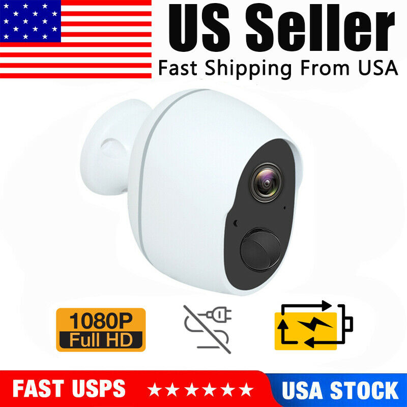 1080P Wireless Security Camera Indoor Outdoor Rechargeable Battery Powered WiFi&