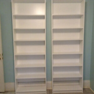 Brand new Ikea bookcases with new 1/2 inch melamine backs