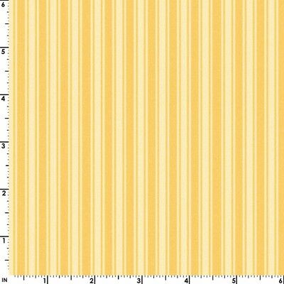 WILD ROSE Flannel Quilt Fabric Yellow Stripe sold by 1/2 Yard Maywood Studio - Maywood Flannel Quilt Fabric