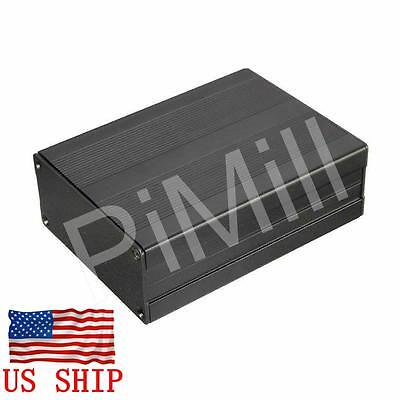 Aluminum Project Box Enclosure Case Electronic Diy 100x76x35mm Black Us Stock