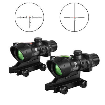 ACOG 4X32 Fiber Optics Scope Cross Reticle Optical Sight Hunting Riflescope