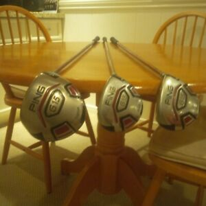 Ping Golf metal woods Driver, 3 and 5