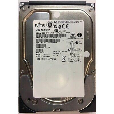 Fujitsu 73GB, 15K RPM, SCSI U320 68 pin - CA06708-B57800JP 73gb 15k Rpm U320 Scsi