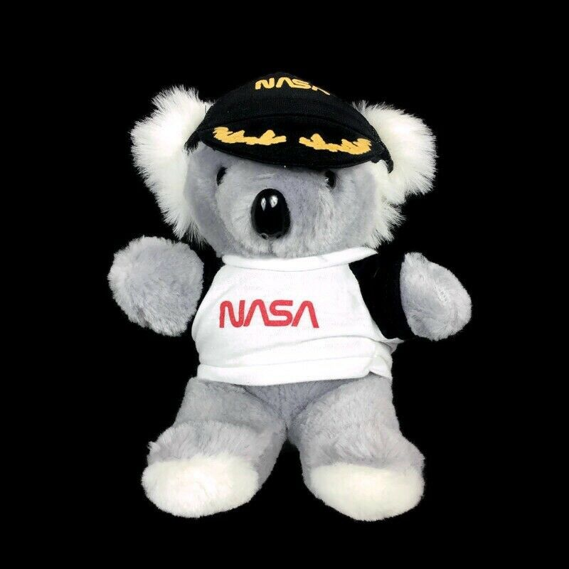 Greek NASA Koala Bear Plush Stuffed Animal with hat and shirt