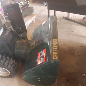 """Craftsman snow blower 12.5 HP  33"""" wide"""