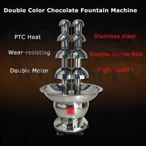 110V 5 layer Double Color Chocolate Fountain Machine 153100
