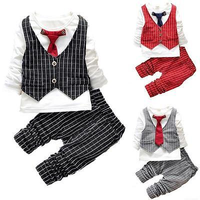 Baby Boys Soft Cute Party Wedding Waistcoat Tie Suit (12Months-4Years) ()