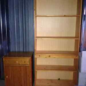 Solid Wood Bookcase with matching end table