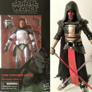 Commander Wolffe and Darth Revan Star Wars Black Series figures