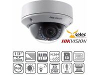 HIKVISION 4 X 4MP VARIFOCAL IP CAMERAS AND 2TB NVR - RRP £1250