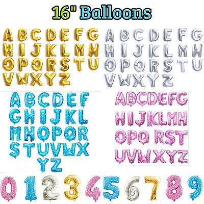 u 40.6cm Alphabet Buchstabe Nummer Folien Ballon (Alphabet Nummer)
