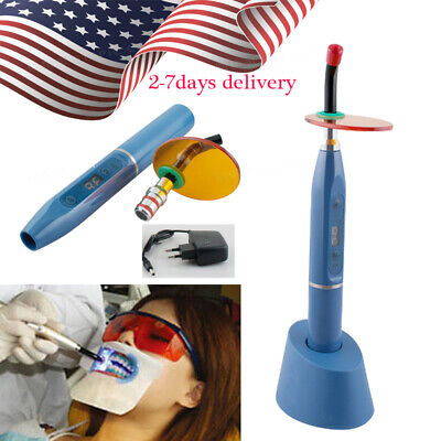 Us 5w Dental Wireless Cordless Led Curing Light Lamp 2000mw Blue Light Noiseless