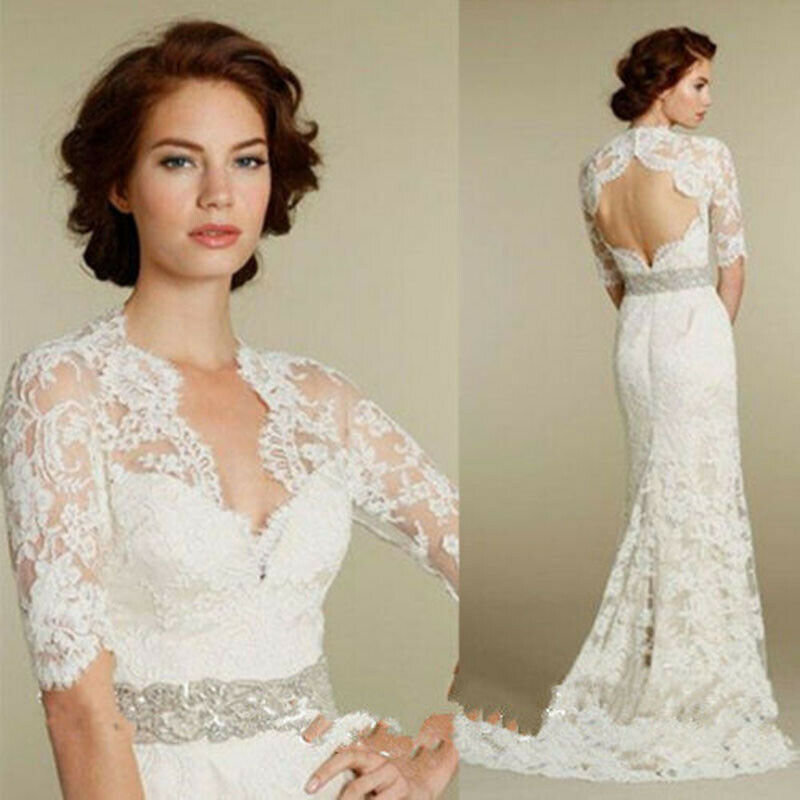 Vintage Bridal Bolero Lace Top High Neck Wedding Jackets Women Wraps Shawl Shrug