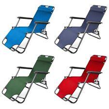 Nouveau pliable gravité transat chaise longue inclinable jardin lit inclinable