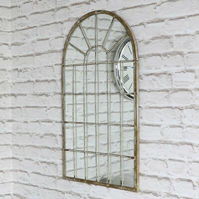 Gewölbte Fenster, Wand (Rustikal Creme Metall Gewölbt Fenster Stil Wand Spiegel Gothic Chic Wohnzimmer)
