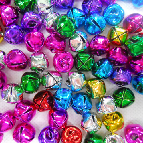 100PCS Mixed Jingle Bells Aluminum Loose Beads For Party Christmas Tree Decor