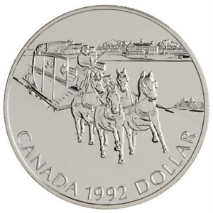1992 Canadian Silver Dollar Stagecoach Service