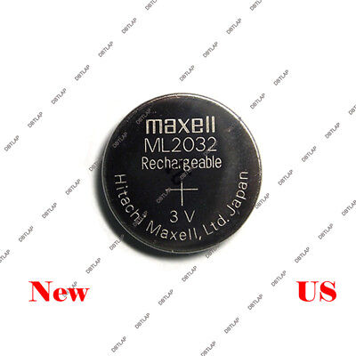 Geniune MAXELL ML 2032 ML2032 RECHARGEABLE 3V Button Coin Cell CMOS BATTERY