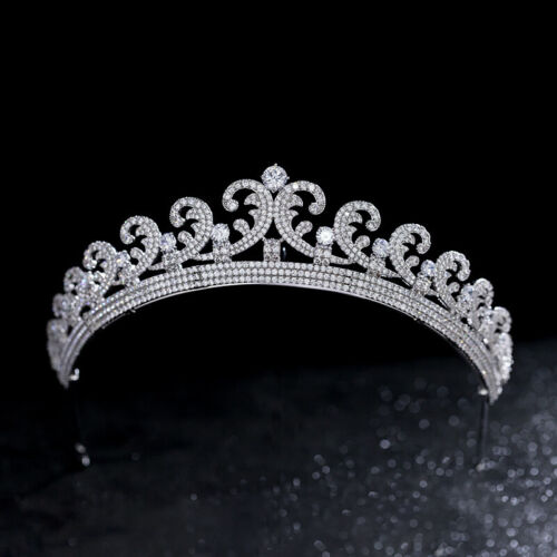 Luxury All CZ Cubic Zirconia Queen Wedding Party Pageant Prom Tiara Crown
