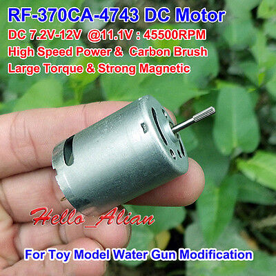 Dc 6v12v 50000rpm High Speed Strong Magnetic Mini Motor Larger Torque 370 Motor