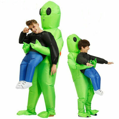 Monster Adult Costumes (Inflatable Halloween Costumes Adult kids Monster Scary Alien Cosplay Pick Me)