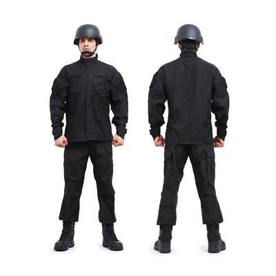 SWAT Black Painball Military Camouflage Suit Airsoft Uniform Sets-Jacket Pant (Swat Uniform)
