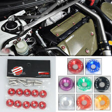 10Pcs/Set Car Universal JDM Screw Washer Car Fender M6 Bolt Screw+Bumper Washer