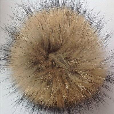Faux Raccoon Fake Fur Hair Huge Ball Fluffy Pompom Hat Bag Shoses Accessory  11CM 5e93c51c83eb