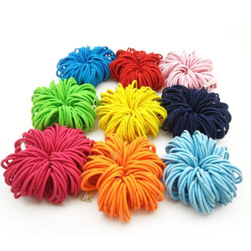 50/100X Für Kinder elastisches Seil Haargummis Pferdeschwanz Inhaber Haarband