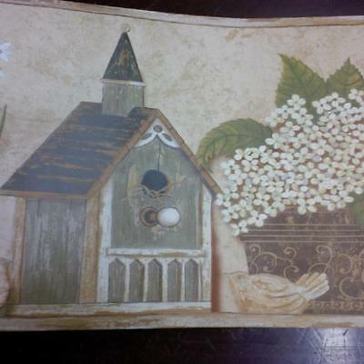 Birdhouses Wallpaper Border - COUNTRY BIRDHOUSES  WALLPAPER BORDER
