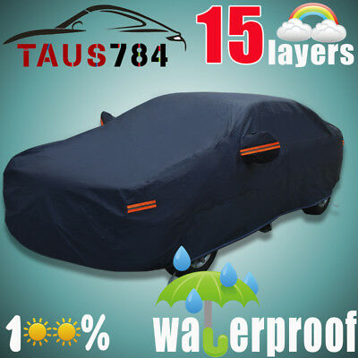 Multi Layers Full Car Cover Waterproof Breathable Outdoor All Weather (Bmw 330i 01 2001 Car)