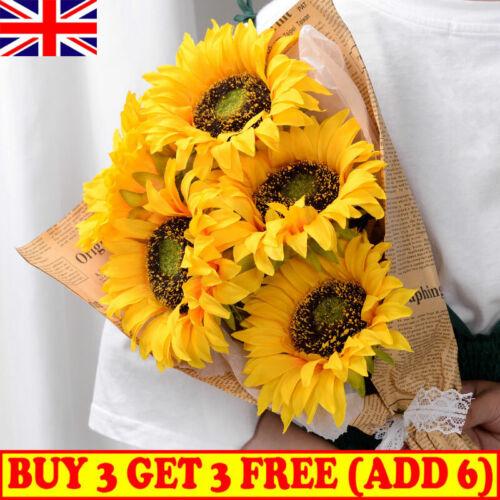 Home Decoration - Artificial Silk Fake Sunflower Flowers Bouquet Hotel  Plants Home Party Decor