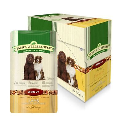 James Wellbeloved Wet Dog Food Pouch Adult Lamb & Rice 6 x 150g No Box