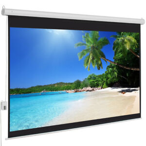 4:3 Electric Projection Screen