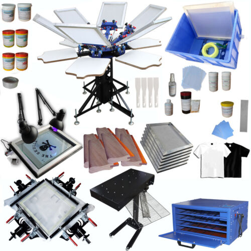 6 Color 6 Station Screen Printing Equipment Set for Commercial Printing Pattern