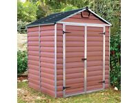 Used 6'x5' (1.8x1.5m) Palram Amber Skylight Plastic Shed for sale