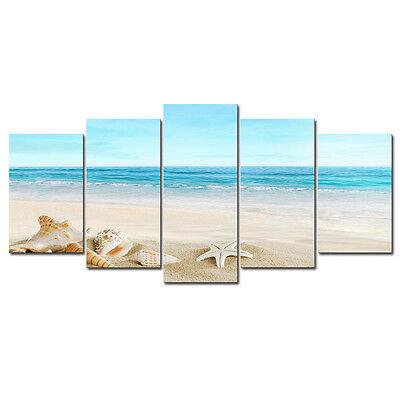 Modern Canvas Print Picture Photo Seascape Beach Landscape Home Decor (No Frame)